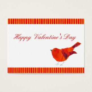 Röd valentines för fågel ACEO Visitkort