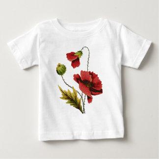 Röd vallmo för Crewelbroderi T-shirt