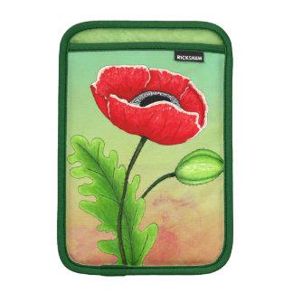Röd vallmo, mini- sleeve för iPad