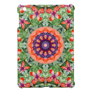 Röd vallmonatur, Blomma-Mandala iPad Mini Mobil Fodral