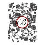 Röd välskött bröllopinbjudan för svart ro 12,7 x 17,8 cm inbjudningskort