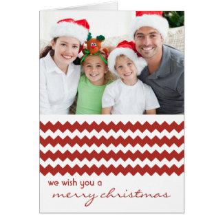Röd vikt julkort för chic sparre hälsningskort