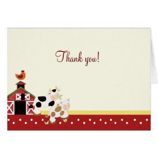 Röd vikt tackkort för babymuko OBS kort