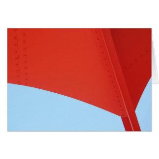 Röd vinge hälsningskort