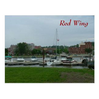 Röd vinge vykort