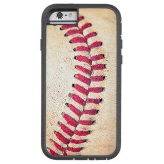Röd vintagebaseball syr tätt upp fotoet tough xtreme iPhone 6 fodral