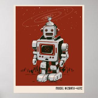 Röd vintagerobot 2 poster