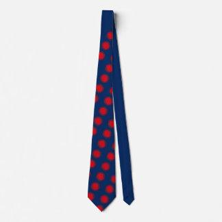 Röd virvla runt polka dots slips
