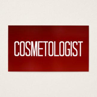 Röd visitkort för Cosmetologist