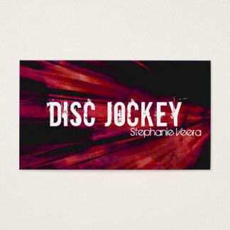Röd visitkort för explosiondiskjockeymusik -