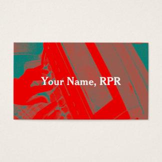 Röd visitkort för reporter för Steno maskindomstol