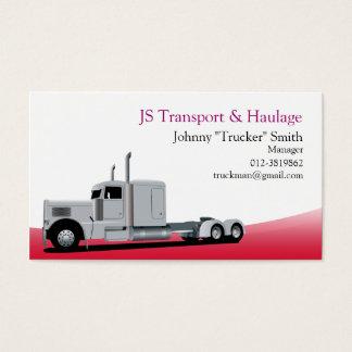Röd visitkort för släplastbiltransport