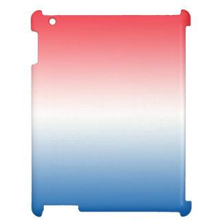 Röd vit & blått Ombre iPad Skydd