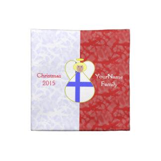Röd vit för finlandssvenskt hår för flaggaängel tygservett