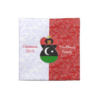 Röd vit för Libyen ängelflagga Tygservett