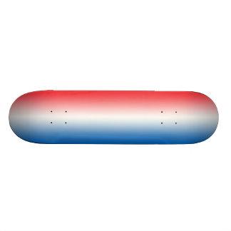 Röd vit och blått mini skateboard bräda 18,5 cm
