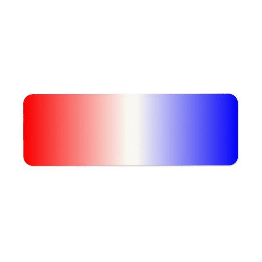 Röd vit och blått Ombre Returadress Etikett