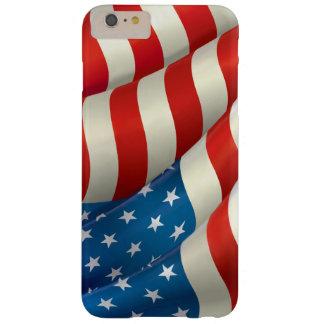 Röd vit och blått som vinkar U.S.-flagga Barely There iPhone 6 Plus Skal