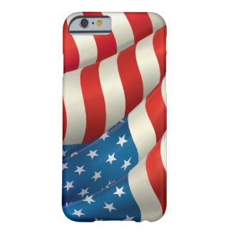Röd vit och blått som vinkar U.S.-flagga Barely There iPhone 6 Skal