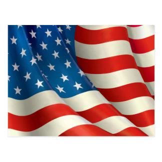 Röd vit och blått som vinkar U.S.-flagga Vykort
