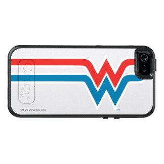 Röd vit- och blåttlogotyp för undra kvinna OtterBox iPhone 5/5s/SE skal