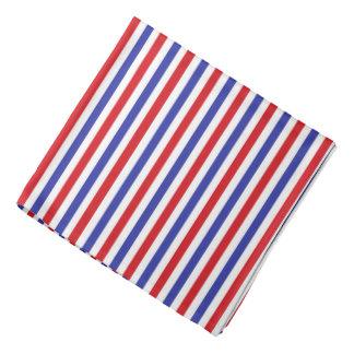 Röd, vit- och blåttrandBandana Scarf