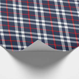 Röd vit- och blåttTartan Presentpapper