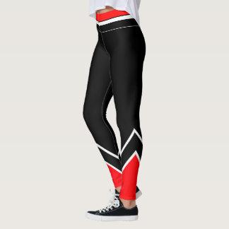 Röd vit och svart leggings