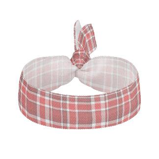 Röd vitplädTartan Hårband