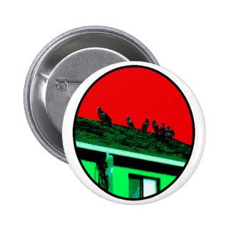 Röd vråknolla-grönt de MUSEUMZazzle gåvorna Knapp Med Nål