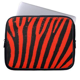 röd zebra ränderNeoprenelaptop sleeve Datorskydds Fodral