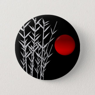 Röd zen för solsvartvit standard knapp rund 5.7 cm