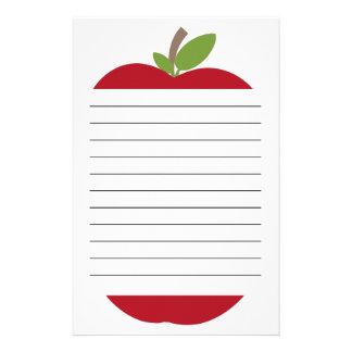 Röda Apple fodrade brevpapper