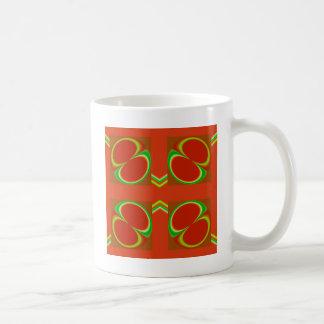 Röda åtta kaffemugg