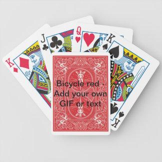 Röda Bicyle gör ditt eget Spel Kort