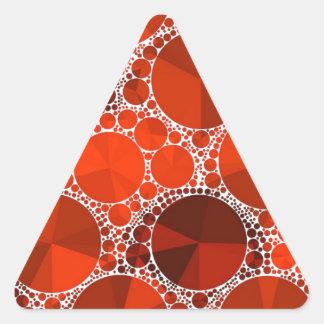 Röda Bling Triangelformat Klistermärke