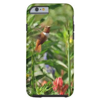 röda blommor för guld och för gröntHummingbird Tough iPhone 6 Case
