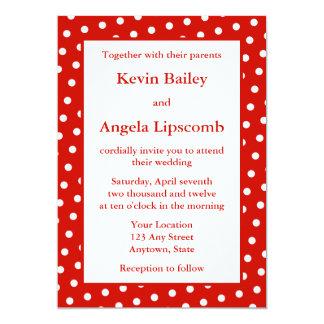 Röda bröllopinbjudningar eller meddelanden - 12,7 x 17,8 cm inbjudningskort