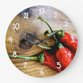 Röda Chilies Stor Klocka