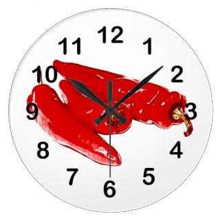 röda chilipeppar stor klocka
