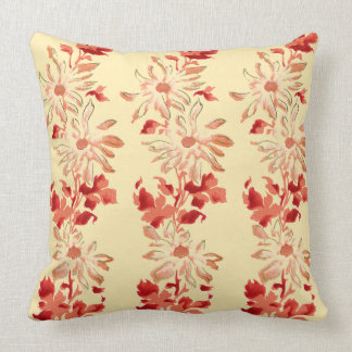 Röda Chrysanthemumjapanblommor Kudde