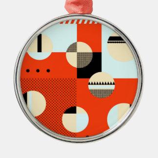 Röda #ColorBlocks & blått Julgransprydnad Metall