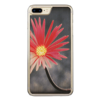 Röda daisyblommor för vintage carved iPhone 7 plus skal