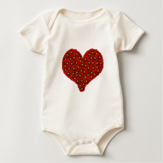 Röda Dhalia blommar hjärtaspädbarnrankan Body