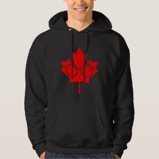 Röda exponeringsglas för Kanada lönnplus Hoodie