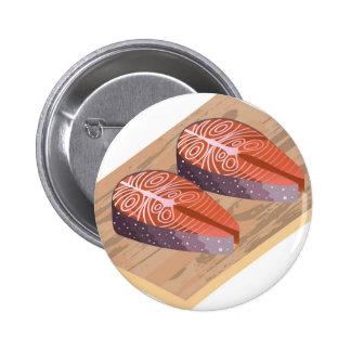 Röda fiskskivor för ny lax standard knapp rund 5.7 cm