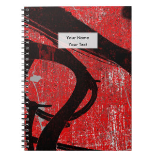 Röda grafitti för kall Grunge Anteckningsbok Med Spiral