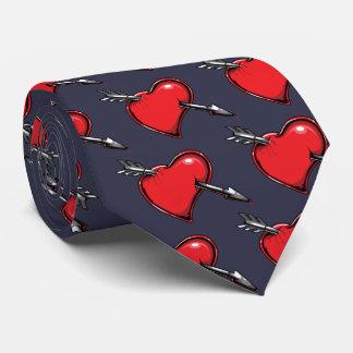 Röda hjärtacupids hjärtor för kärlek för pil slips