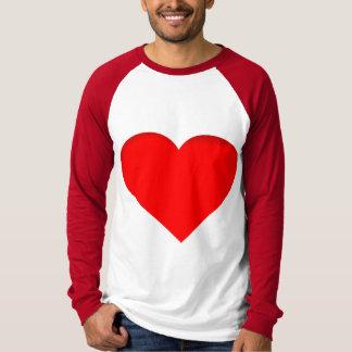 Röda hjärtor dubblerar tryckdesign tshirts