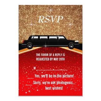 Röda Hollywood mattar OSA 8,9 X 12,7 Cm Inbjudningskort